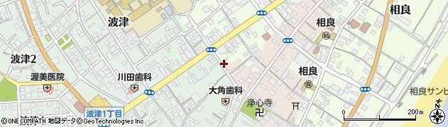 静岡県牧之原市相良銀座周辺の地図