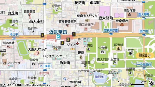〒630-8215 奈良県奈良市東向中町の地図