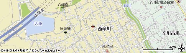 岡山県岡山市北区西辛川周辺の地図
