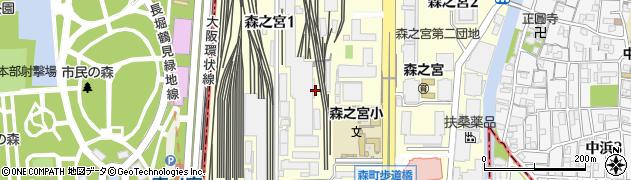 大阪府大阪市城東区森之宮1丁目6周辺の地図