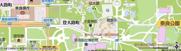 氷室神社周辺の地図