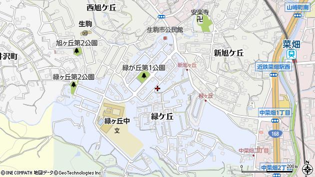 〒630-0262 奈良県生駒市緑ケ丘の地図