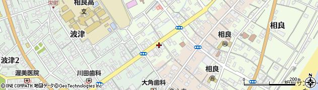 静岡県牧之原市相良新町周辺の地図