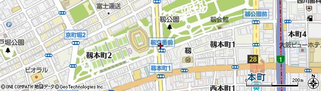 大阪府大阪市西区靱本町周辺の地図