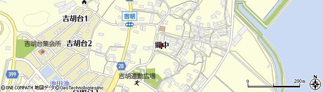 愛知県田原市吉胡町(郷中)周辺の地図
