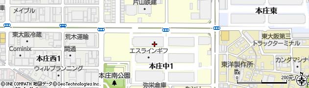 大阪府東大阪市本庄中周辺の地図