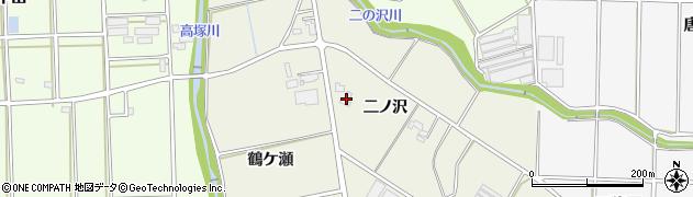 愛知県豊橋市高塚町(二ノ沢)周辺の地図