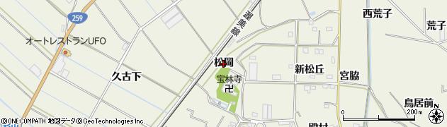 愛知県豊橋市杉山町(松岡)周辺の地図