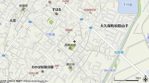 〒674-0053 兵庫県明石市大久保町松陰の地図