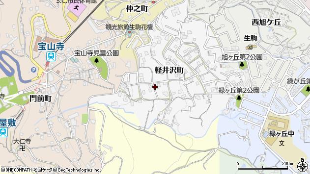 〒630-0265 奈良県生駒市軽井沢町の地図