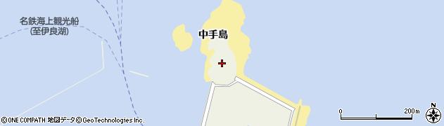 愛知県南知多町(知多郡)篠島(中手島)周辺の地図