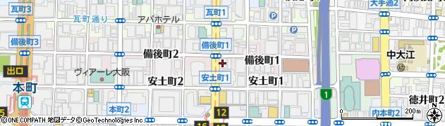 大阪府大阪市中央区備後町1丁目7-3周辺の地図