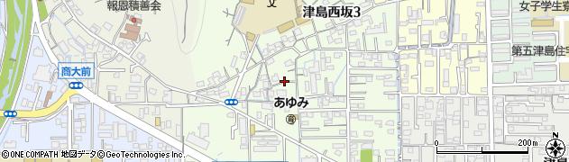 岡山県岡山市北区津島西坂周辺の地図