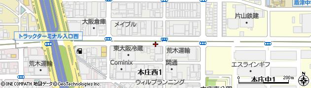 大阪府東大阪市本庄西周辺の地図