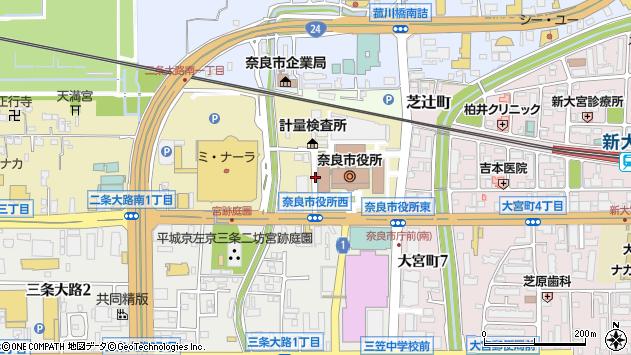 〒630-8012 奈良県奈良市二条大路南の地図