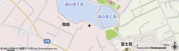 愛知県豊橋市老津町(嵩山)周辺の地図