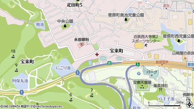〒631-0844 奈良県奈良市宝来町の地図
