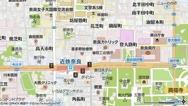〒630-8214 奈良県奈良市東向北町の地図