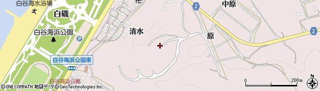 愛知県田原市白谷町周辺の地図