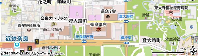 奈良県周辺の地図