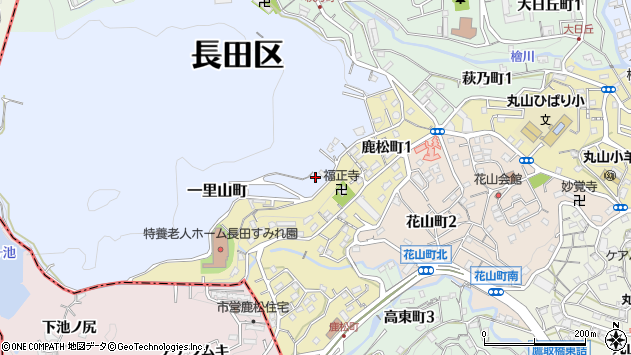 〒653-0878 兵庫県神戸市長田区一里山町の地図