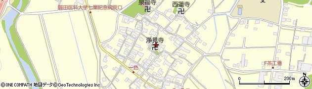 浄見寺周辺の地図