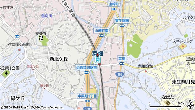 〒630-0263 奈良県生駒市中菜畑の地図