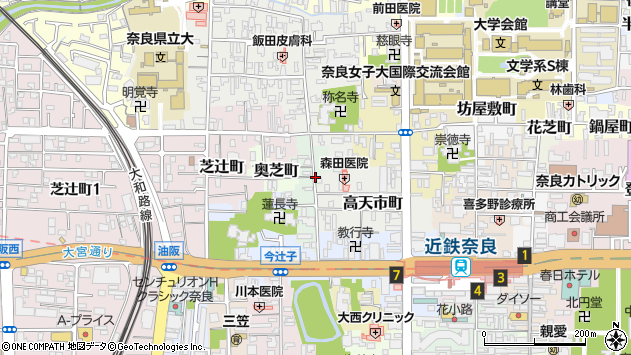 〒630-8255 奈良県奈良市阪新屋町の地図