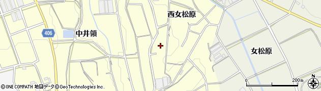 愛知県豊橋市東七根町(西女松原)周辺の地図