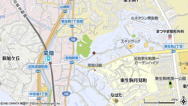 〒630-0215 奈良県生駒市東菜畑の地図