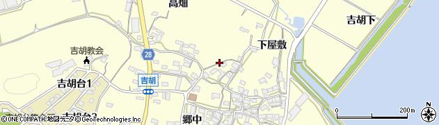 愛知県田原市吉胡町周辺の地図