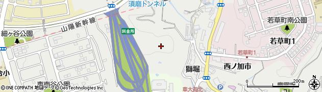 兵庫県神戸市須磨区車(汁谷)周辺の地図
