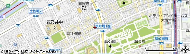 大阪府大阪市西区京町堀周辺の地図