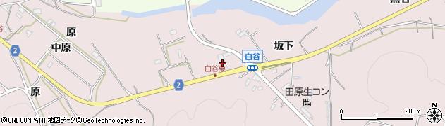 愛知県田原市白谷町(坂下)周辺の地図