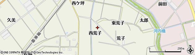 愛知県豊橋市杉山町(西荒子)周辺の地図
