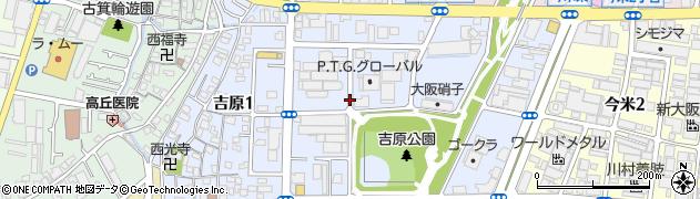 大阪府東大阪市吉原周辺の地図