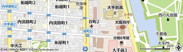 大阪府大阪市中央区谷町2丁目2-22周辺の地図
