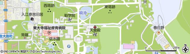東大寺本坊周辺の地図
