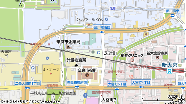〒630-8011 奈良県奈良市北新町の地図