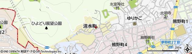 兵庫県神戸市兵庫区清水町周辺の地図