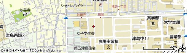岡山県岡山市北区津島桑の木町周辺の地図