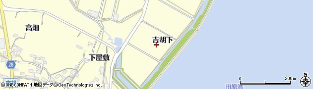 愛知県田原市吉胡町(吉胡下)周辺の地図
