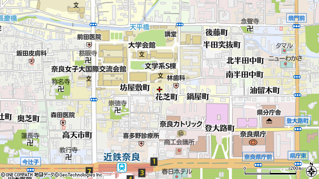 〒630-8265 奈良県奈良市宿院町の地図