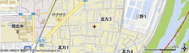 岡山県岡山市北区北方周辺の地図