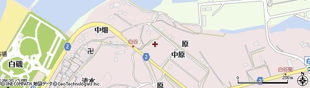 愛知県田原市白谷町(原)周辺の地図