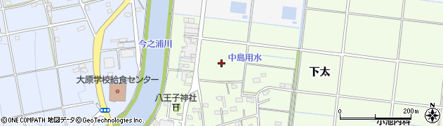 静岡県磐田市下太周辺の地図