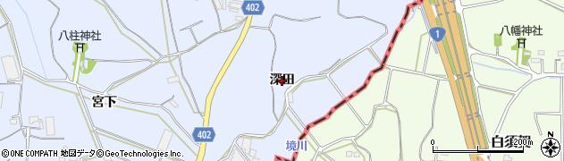 愛知県豊橋市東細谷町(深田)周辺の地図