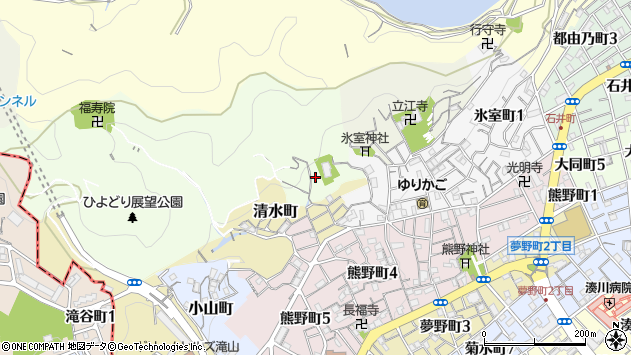 〒652-0052 兵庫県神戸市兵庫区鵯越筋の地図