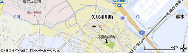 三重県津市久居相川町周辺の地図