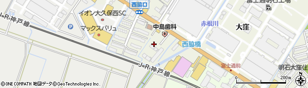 兵庫県明石市大久保町西脇小薮周辺の地図